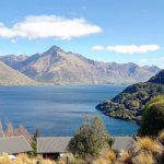 View over the villas closest to the Lake Wakatipu. Enjoy the golf buggy rides to and from the vi