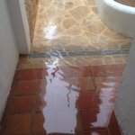 Flood in room and just outside front door