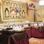 The buffet area