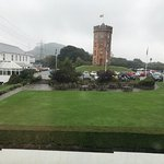 a view from the room in the spa building. Sorry, no sun that day, it's Wales after all!