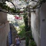 Walkway down into Positano