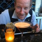 Jeff Brown with his famous espresso martini!