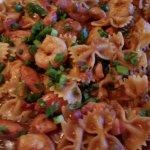 Jumbolia with bow-tie pasta