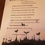 The special menu