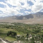 Amazing view of lush green valley from Spituk Monastery