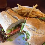 Milanesa sandwich, the best. Just try it! BREAD IS UNIQUE!