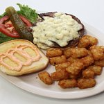 Blue Cheeseburger & Tots @ the Guaranty Café