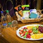Yorkshire Nibbles Hamper and Fruit Platter - Hurlstone Suite