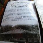 the menu and history
