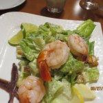 Caesar Salad w/anchovies . Shrimp added.