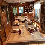 Inn's dining table.