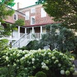 The back garden and porch of the Mary Todd Lincoln House