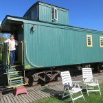 Caboose with twin beds on opposite ends of the car