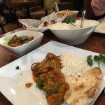 Chicken Vindaloo and Kadai Subz