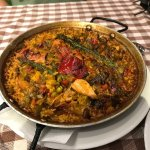 Chicken and vegetable paella