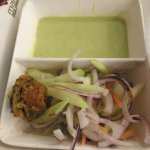 Salad and Pudina Chutney