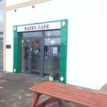 Now Kate's cafe with bench seating outside
