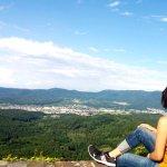 on Burg hohenbaden tower, panoramic view!