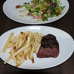 Grilled Filet Mignon with Fries