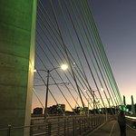 Crossing Tillikum Bridge