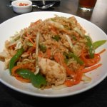 CRE-Asian bowl, rice, chicken, carrots, cabbage, green pepper