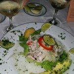 comida de mar en un restaurante de comida española