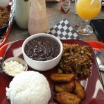 El Pabellón de El Fogon Latino. 100% recommended. Try the Pabellon, Venezuela Typical Dish.