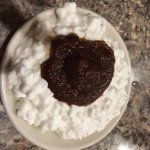 cottage cheese w/apple butter