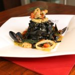 Nero di Seppia - mixed seafood in our white wine sauce
