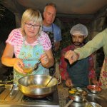 Having a go with the cooking