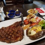 steak + lobster tails