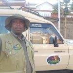 Nicholas at safari park, ready to take of to Masai Mara game reserve