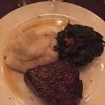 Filet Mignon with Spinach and Mashed Potatoes