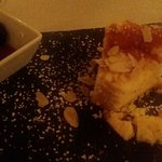 Cheesecake with armagnac soaked prunes