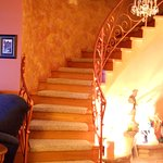 The staircase to the second floor.