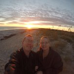Grandpa & Grandma, sunrise on Amelia Island