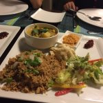 Fried rice with green curry