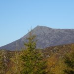Schiehallion as seen from the last stop on the Safari