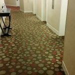 Dirty carpets on my floor at elevator landing. Restaurant hallway carpet is worse.