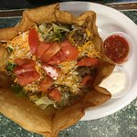 How about a Taco Salad in a Fresh Tortilla Shell? Yumm