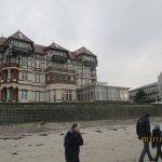Schloss am Meer, Wintergarten im Bau, daneben Hotel Hansa-Haus