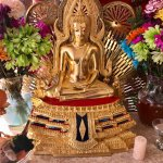 Our cherished golden Buddha statue