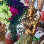 Thai traditional costume statue