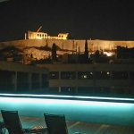 View to Acropolis from jakuzzi area on the roof