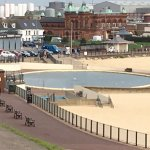 View of Boating pool from the prom