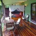 Veranda with 4 poster king size bed