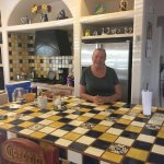 Rosie is her kitchen and photos of the Casita