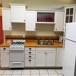 Rosie is her kitchen and photos of the Casita