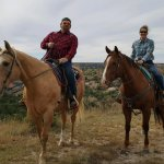 Cowgirls and Cowboys in the West Foto