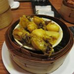 Steamed baby cuttle fish with curry sauce